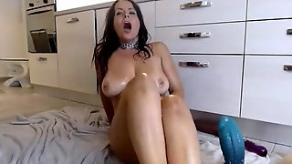 Big tits milf anal fucks dragon dildo and fountain squirts