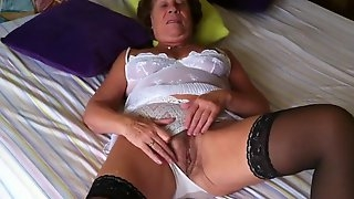 Oma Hairy German Wife Martha Swallows Big Dick