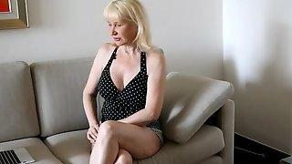 Blonde mature casting