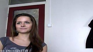 Beautiful Slovak girl has sex for money