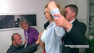 Big tits secretary Terri Nova gangbanged at work