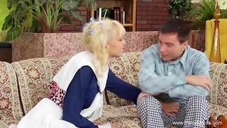 Pigtail Young Blonde Teen Extreme After College Fuck