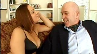 Shaved brunette Aqua Hazel enjoys getting fucked on eradicate affect top of eradicate affect sofa