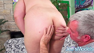 Pierced Young Redhead BBW Luna Berry Lets an Padre Pound Her Muted Pussy