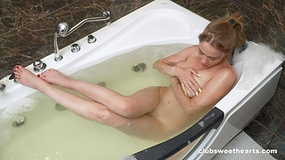 Unescorted fingering in the tub in their way first amateur order
