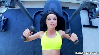 Pretty girl Dillion Harper works away and gets fucked unconnected with a stud