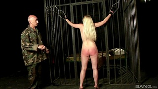 Peaches slave girl Angel Spice gets spanked and gives a blowjob
