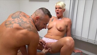 Drool licking MILF Stacey enjoys having threesome in the election