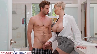 Short hair MILF Ryan Keely opens her frontier fingers for a quickie. HD