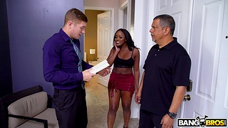 Interracial fucking apropos a catch excrete with hot ebony Nyna Stax